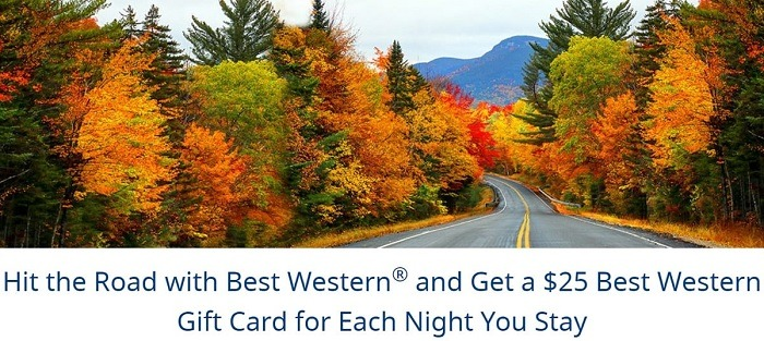 Get $25 Best Western Gift Card for Every Night Stay
