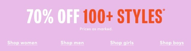 70% Off Hundreds of Styles