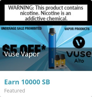 Get 10,000 SB w/ Any Purchase at Vuse Vapors