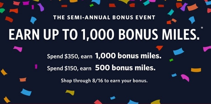 Earn Up to 1,000 Bonus Miles