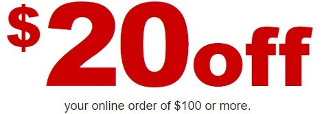 $20 Off $100+ Order Coupon