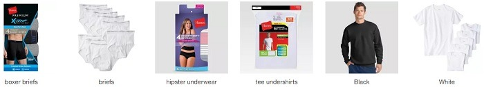 Get $5 Target Gift Card w/ Three Select Hanes Underwear, Socks, or Bra Purchase