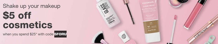 $5 Off $25 Cosmetics Purchase Coupon