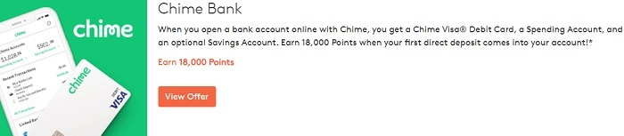 Earn 18,000 Points When Opening Bank Account Online with Chime