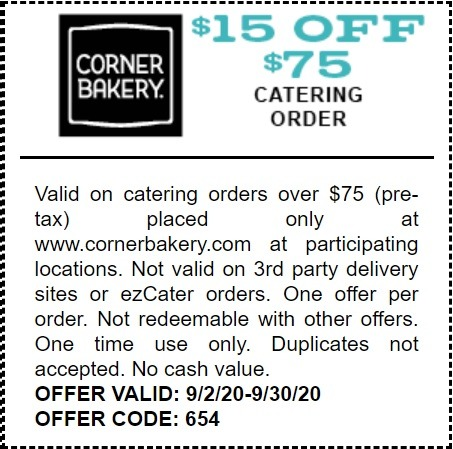 Get $15 Off $75+ Catering Order Coupon
