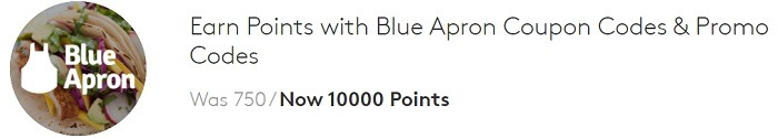 Earn 10,000 Points w/ Blue Apron Subscription