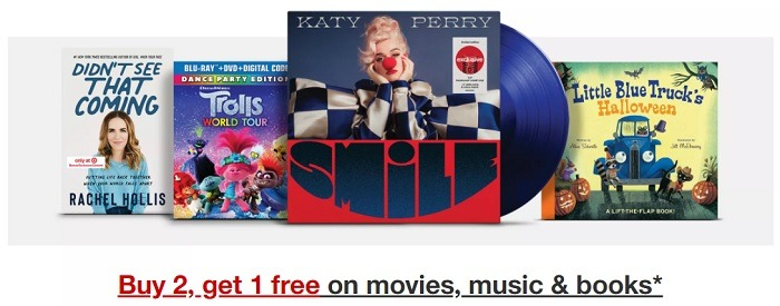 Buy 2 Get One Free Movies, Music & Books