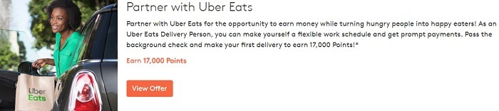 Earn 17,000 Points w/ Uber Eats Delivery Sign-Up & Completing First Delivery