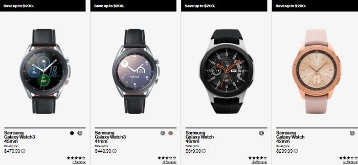 Up to $200 Off Samsung Smart Watches