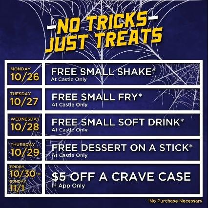 Free Food Items Through 11/1