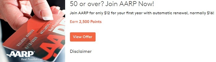 Earn 2,500 Points with AARP Enrollment