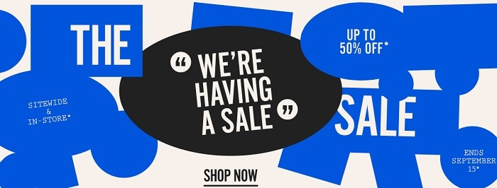 Up to 50% Off Sitewide