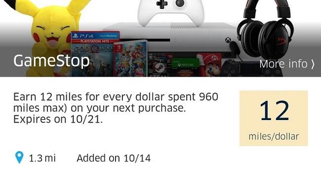 Earn 12x at GameStop