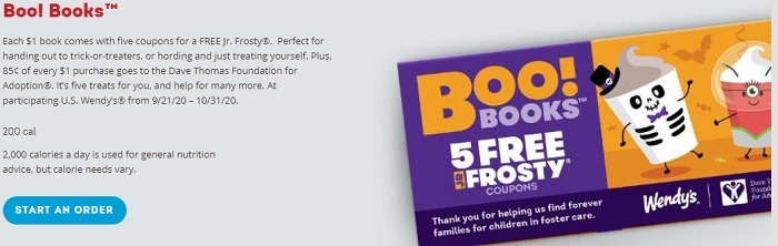 Get 5 Free Jr. Frosty's w/ $1 Coupon Book Purchase