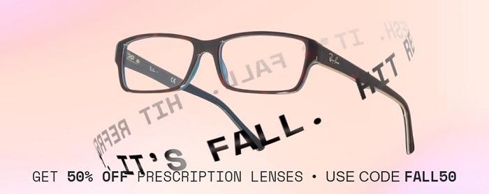 50% Off Prescription Lenses Coupon