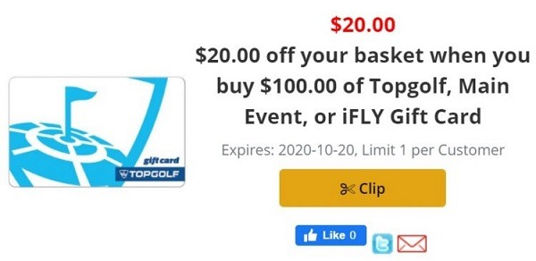 Purchase $100 Select Gift Cards For $80