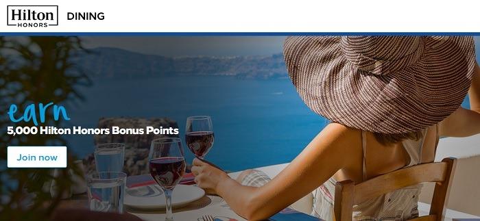 Get 5,000 Bonus Points When Joining Dining Program