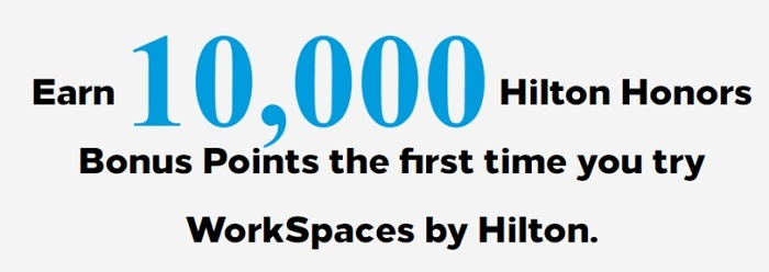 Earn 10,000 Bonus Points w/ First WorkSpaces Booking