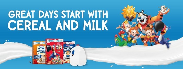 Get $4 Rebate w/ Three Select Cereals & Milk Purchase