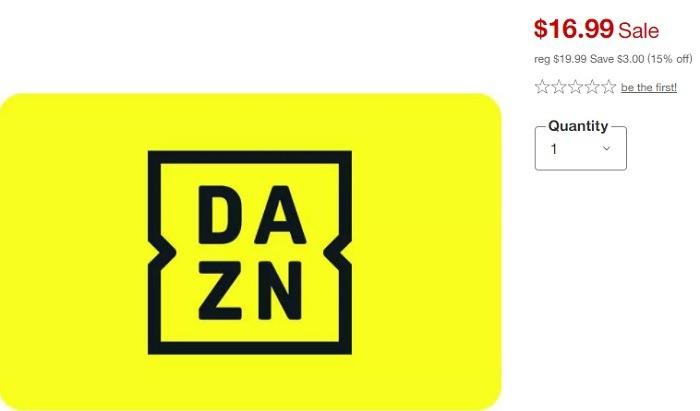 Get 15% Off DAZN Gift Cards