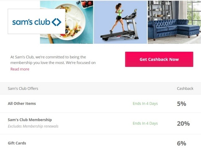 Earn 6% Cash Back on Gift Cards at Sam's Club