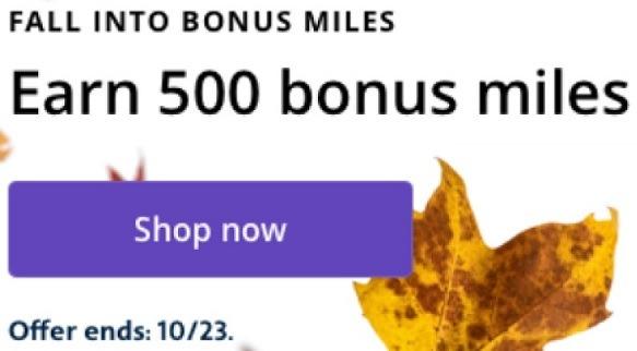 Earn 500 Bonus Miles w/ $100 Spend