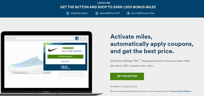 Earn 1,000 Bonus Miles w/ Button Install & $25 Spend