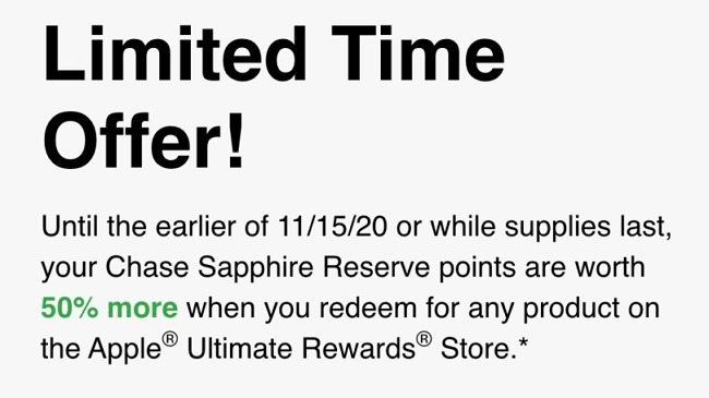 Redeem UR Points for Apple Products w/ Up to 50% Bonus Value