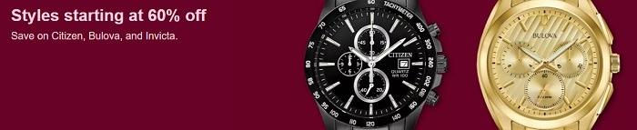 Watches Starting at 60% Off (Citizen, Bulova, Invicta)