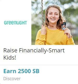 Earn 2,500 SB w/ Greenlight Registration + Purchase