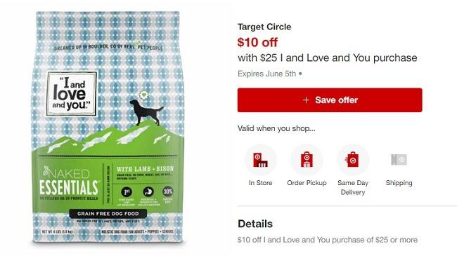 Target dog food