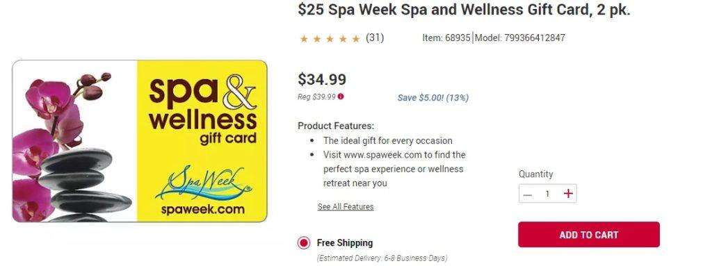 spa and wellness gift card