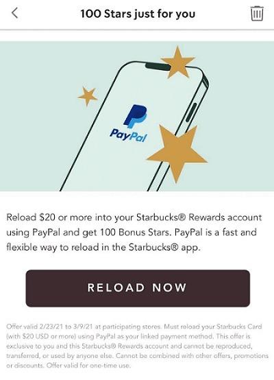 Starbucks paypal