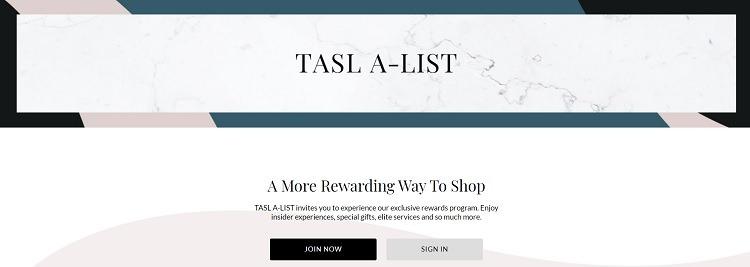 Tahari ASL rewards program