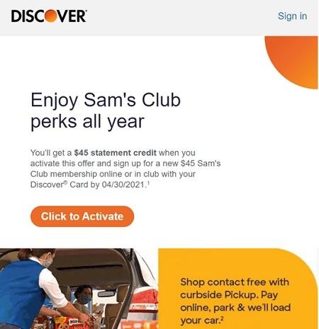 discover sams