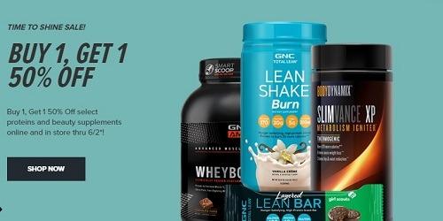 GNC Promotions: BOGO 50% Off Select Proteins & Beauty Supplements, Etc
