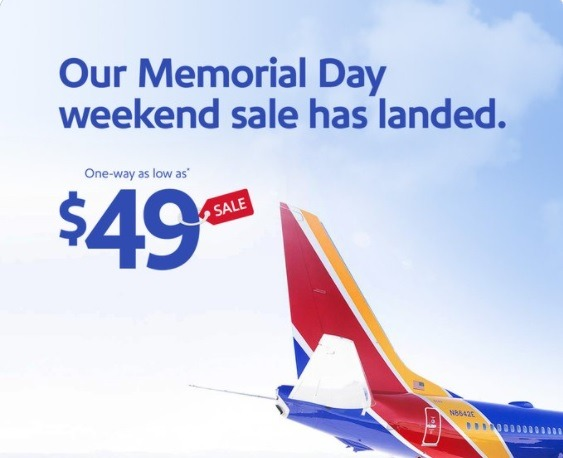 Southwest Airlines Promotions: One-Way Flights Starting at $49, Etc