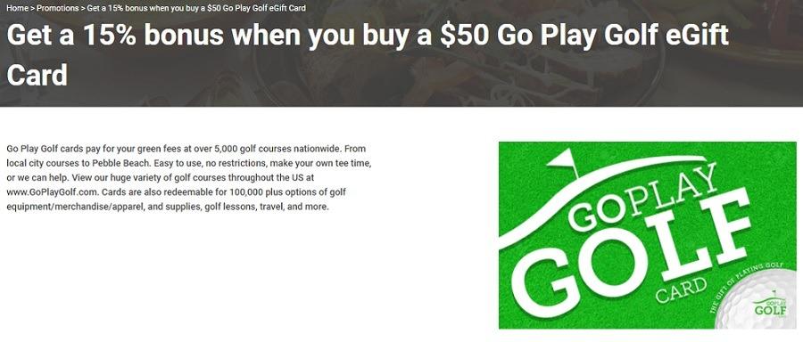 Kroger: Purchase $57.50 Go Play Golf eGift Card for $50