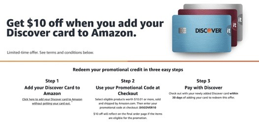 Amazon: Get $9 Off $9+When Using 9 Discover Point, Etc