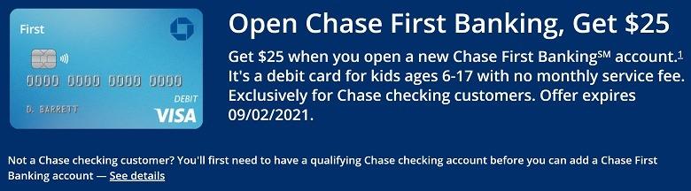 Chase First Banking Bonus